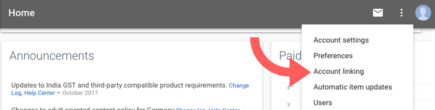 AdWords Account linking