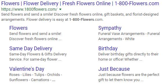 Organic 1-800 Flowers result